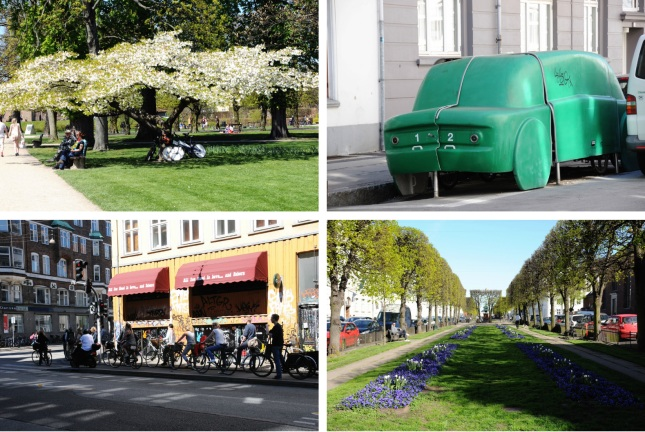 Rosenborg Have, Bikes Garage, Traffic Jam, Sankt Annæ Plads