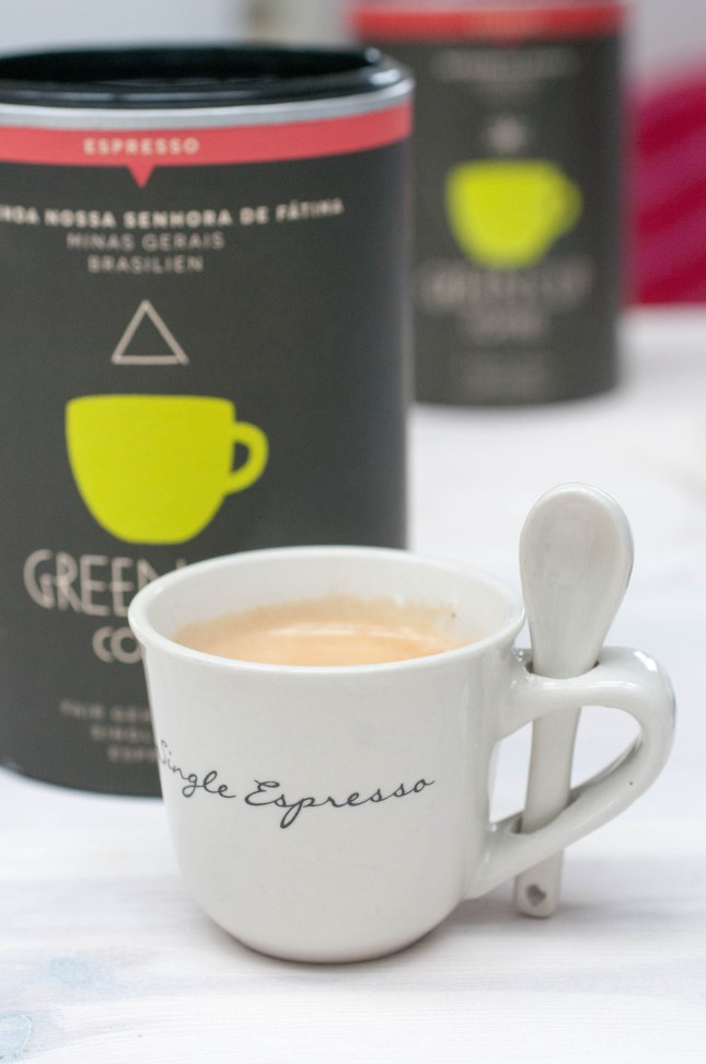 Single Espresso Green Coffee Cup